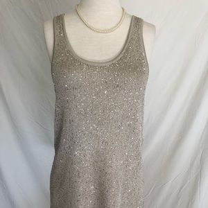 Women's Matty M Sequence Top In Champagne Size Med
